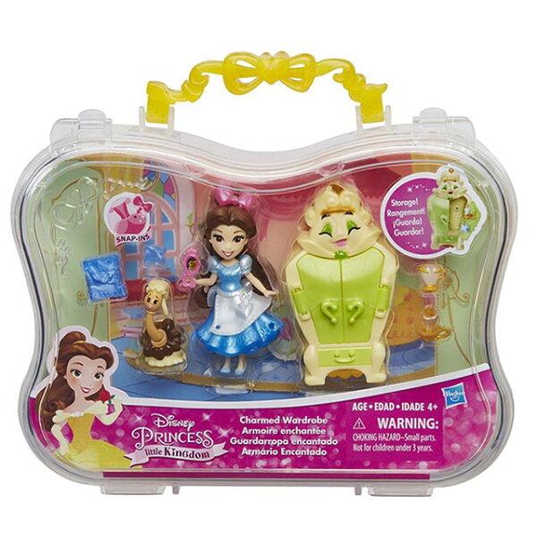 《Disney迪士尼》迷你公主故事場景組-貝兒