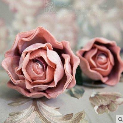 家居飾品高檔歐式仿真花絨布木荷假花裝飾花客廳插花裝飾品(圖一)