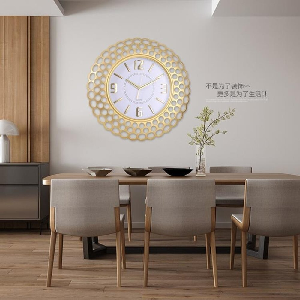 免運 北歐風格鐘錶掛鐘客廳家用臥室簡約現代石英時鐘創意靜音掛錶掛件
