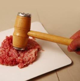 【省錢博士】多功能廚房雙面敲肉錘  /  牛排錘砸肉筋嫩肉錘木柄  /  敲肉錘 - 限時優惠好康折扣