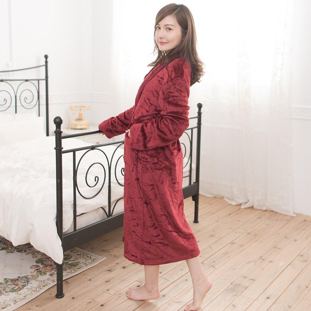 M / L / XL法蘭絨男女浴袍睡袍(經典紅 / 經典白 / 經典黑) 6