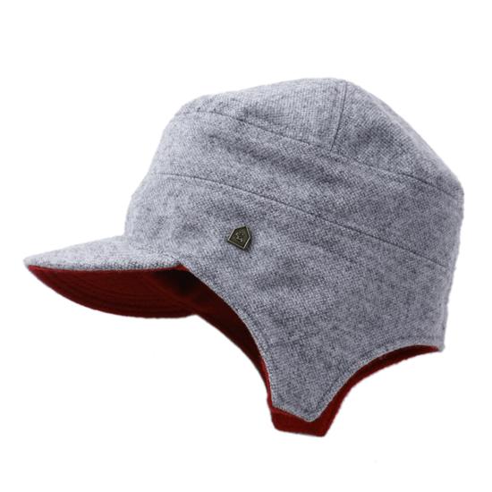 飛行帽/毛料麻花灰配藏紅款 - 限時優惠好康折扣