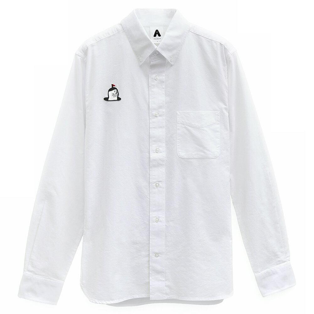 我在這-牛津扣領長袖襯衫-白色 / 刺繡款(預購商品/12月初開始出貨) 0