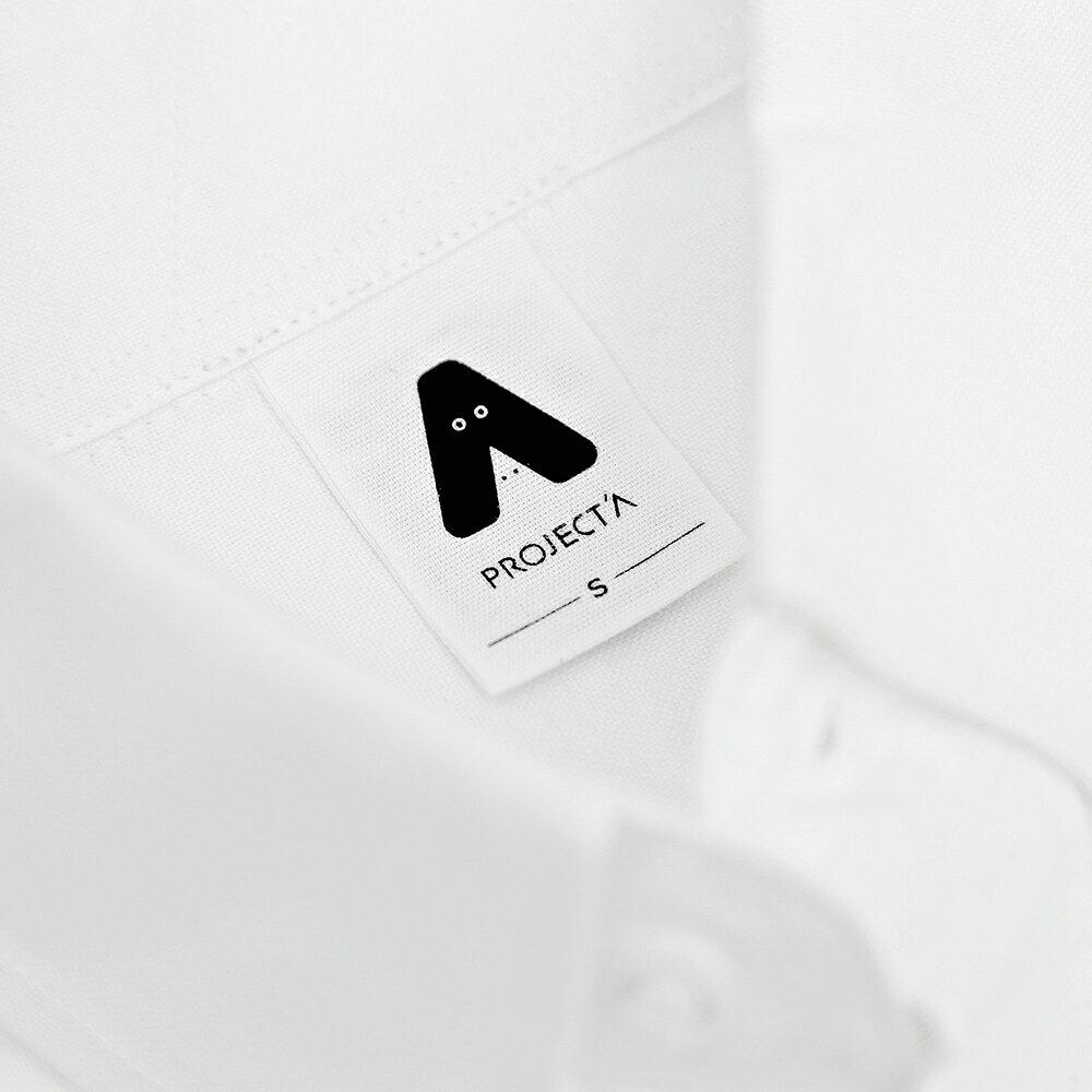 我在這-牛津扣領長袖襯衫-白色 / 刺繡款(預購商品/12月初開始出貨) 1