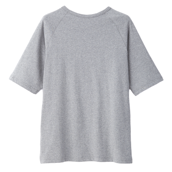 灰墨。拼接五分袖寬版上衣-麻花灰色款 1
