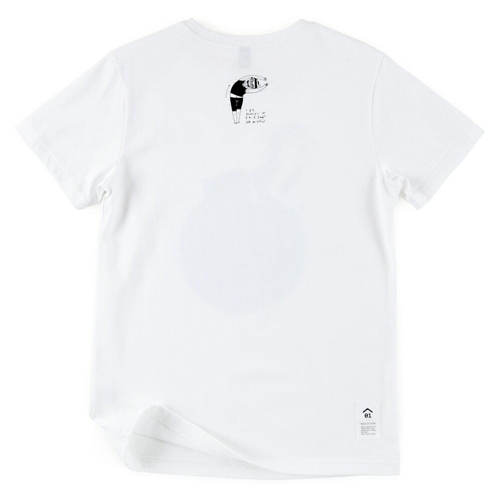 插畫T/怪北北!白色款印花T恤 1
