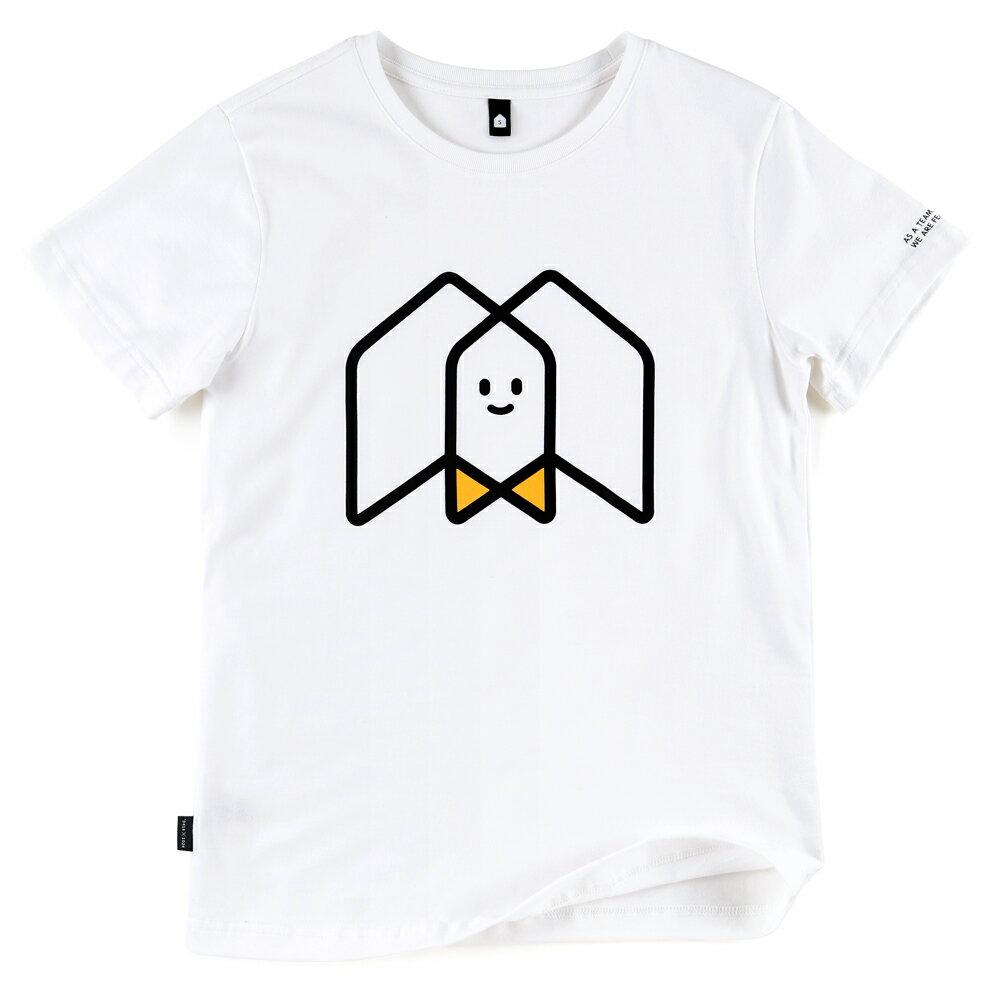 插畫T/一起!白色款印花T恤 0