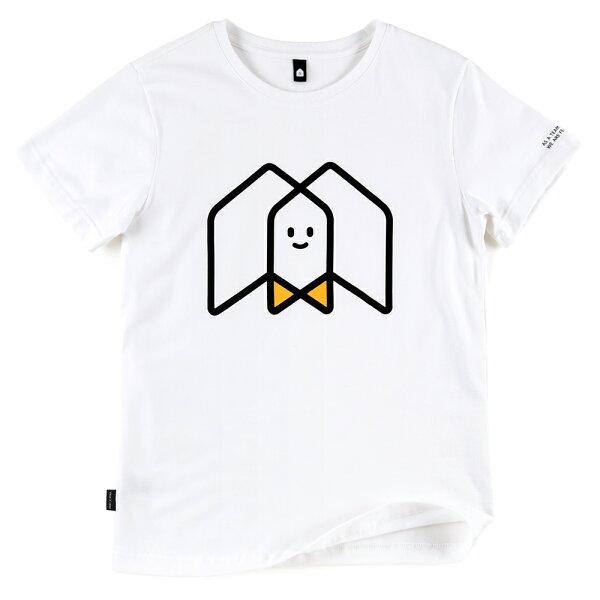 插畫T/一起!白色款印花T恤