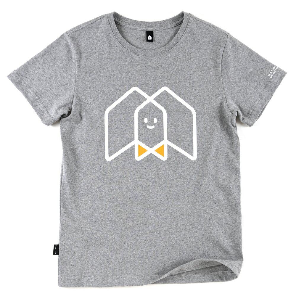 插畫T/一起!麻花灰色款印花T恤 0