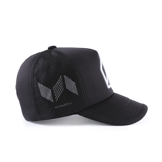 和諧者 / 立體刺繡網帽。黑色款 3