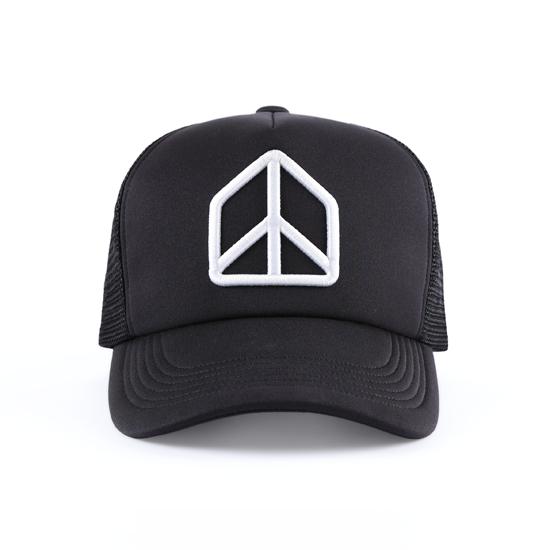 和諧者 / 立體刺繡網帽。黑色款 4