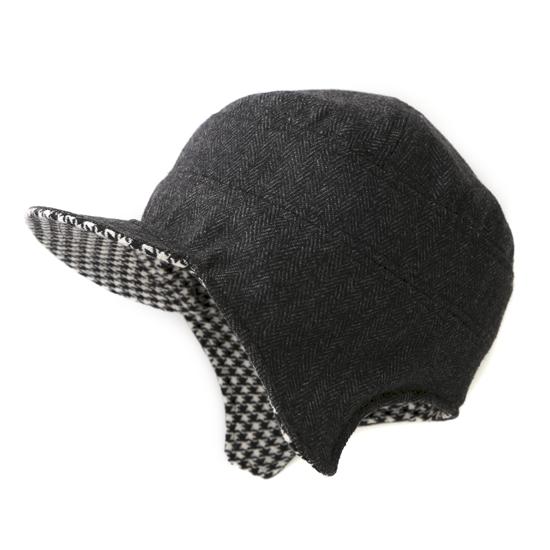 飛行帽/經典千鳥格文(可雙面戴) 1