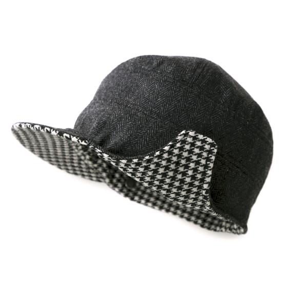 飛行帽/經典千鳥格文(可雙面戴) 2