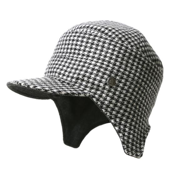 飛行帽/經典千鳥格文(可雙面戴) 3