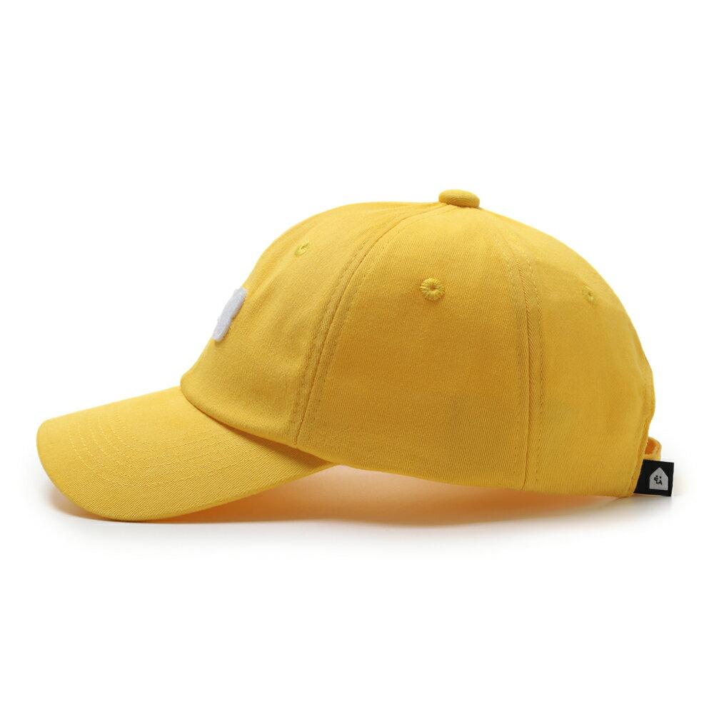 GO!立體繡復古棒球帽/黃色款 1