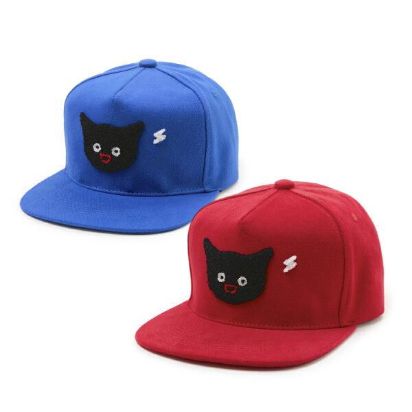 貓貓想電你-棒球帽-紅/藍二款