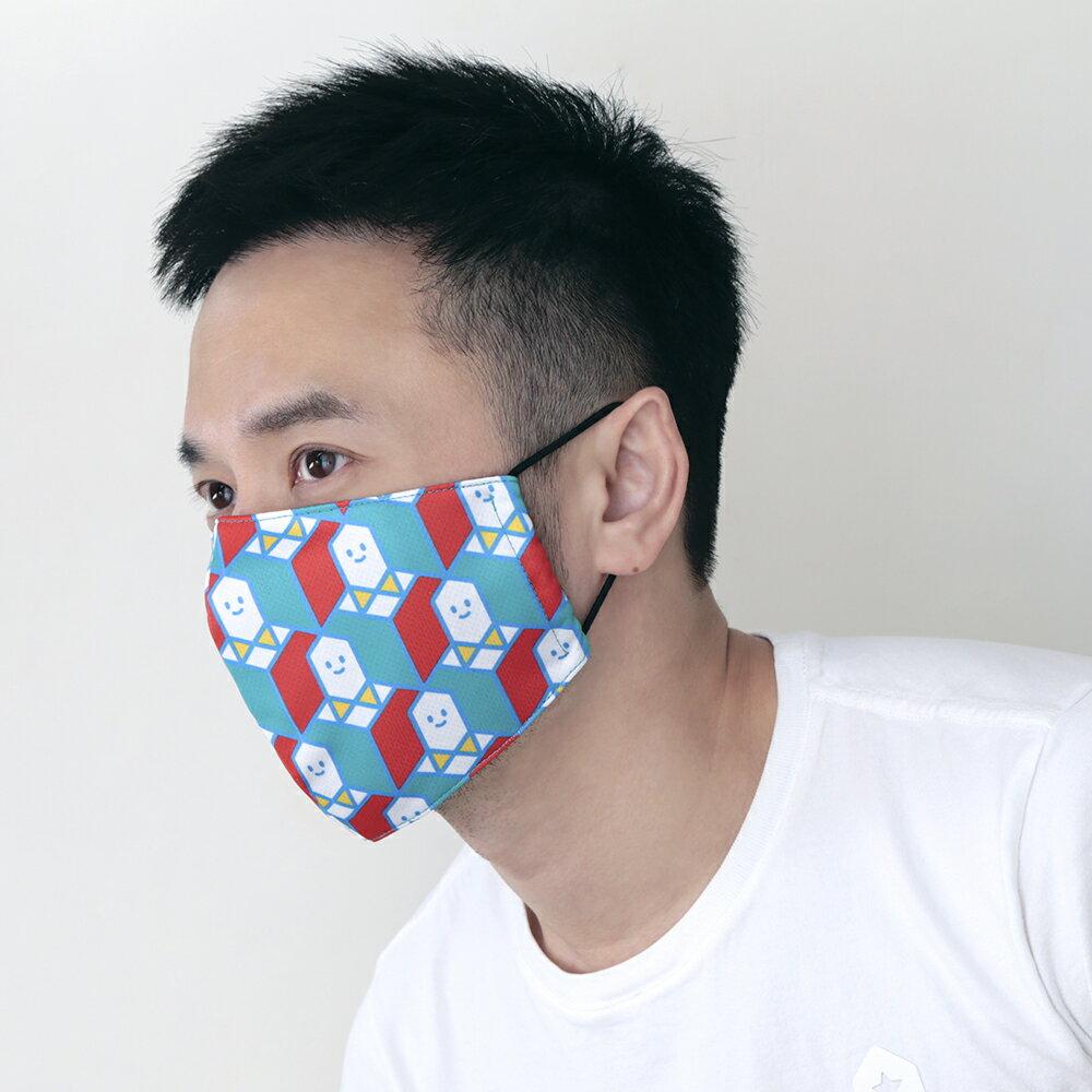 一起。兩用型立體口罩套/可置濾材