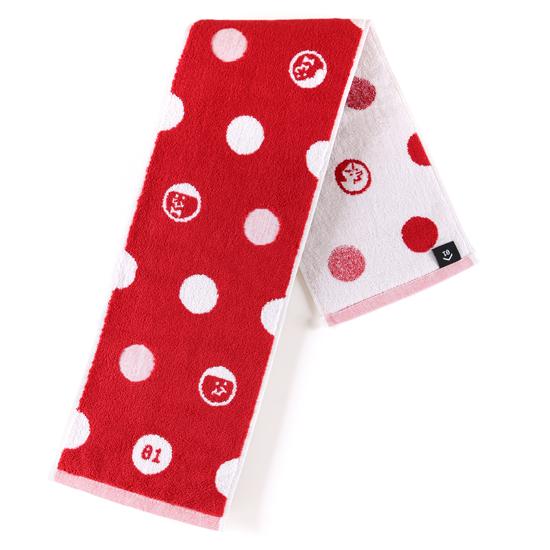 好友點點!紅色款/窄版運動巾 0