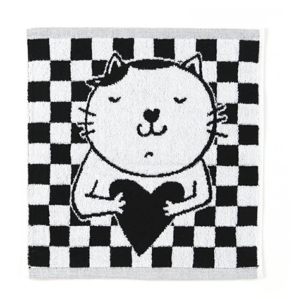 (貓)愛心鼻鼻喵! 方巾 0