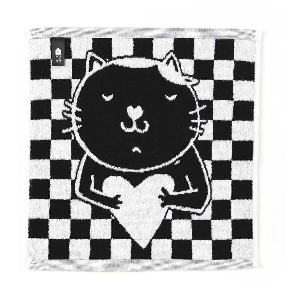 (貓)愛心鼻鼻喵! 方巾 1