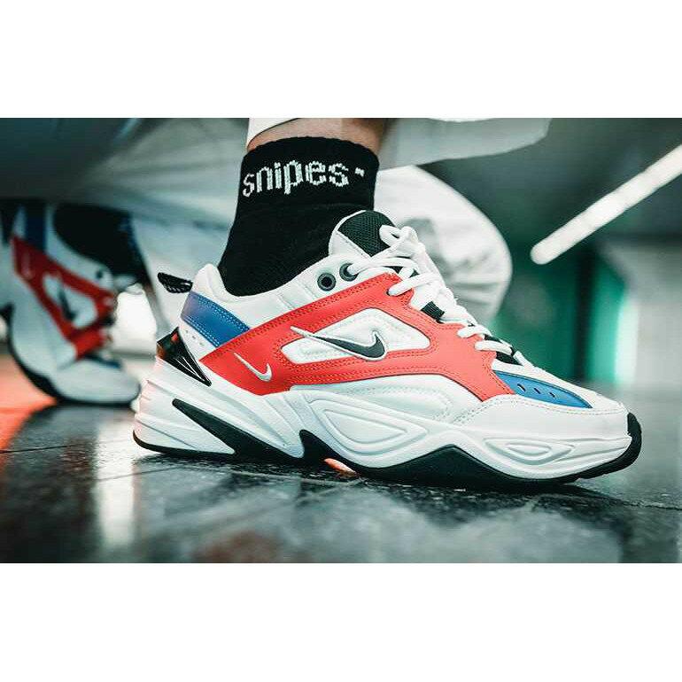【日本海外代購】Nike Monarch M2K Tekno 復古 老爹鞋 白藍 橘色 厚底 增高 男女鞋 AO3108-101
