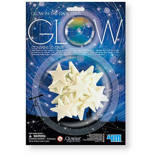 【4M 創意 DIY】Glow Mini Stars/Bule 螢光迷你星星貼片(藍光款)
