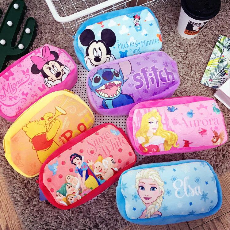 PGS7 迪士尼系列商品 - 迪士尼 絨布 系列 筆袋 鉛筆盒 化妝包 收納包 米妮 米奇 史迪奇【SIS6639】