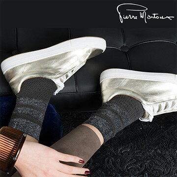 { 8折 } 【皮爾曼都Pierre Mantoux】多元素拼接造型棉質短襪  /  義大利精品 - 限時優惠好康折扣