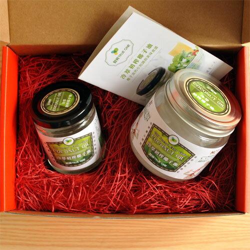 【椰子油禮盒】鮮粹 冷萃初榨椰子油500ml+250ml禮盒組 1