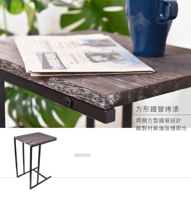 凱堡 桐木邊桌 實木邊桌 仿舊系列 小茶几沙發邊桌【H05070】 3