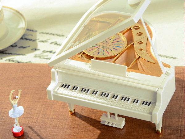 SISI 【G4016】芭蕾舞女孩鋼琴音樂盒 創意生日/畢業/情人節/聖誕節交換禮物