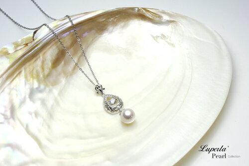 大東山珠寶 星芒 日本AKOYA天然海水珍珠純銀晶鑽項鍊 4