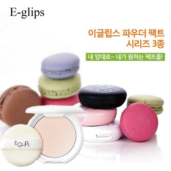 E-glips美肌零暇控油粉嫩蘋果光粉裸妝肌粉餅【23815】