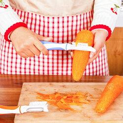 ♚MY COLOR♚廚房多功能削皮器 刷子 清潔 去皮 刨皮 清洗 蔬果 懸掛 果皮 清洗 瀝乾【G78】