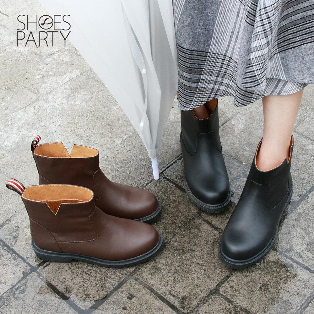 【B2-19320L】真皮防水短靴_Shoes Party 0