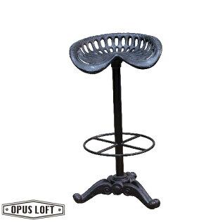 純真年代Opus Loft:復古工業風鑄鐵犁型造型吧檯椅