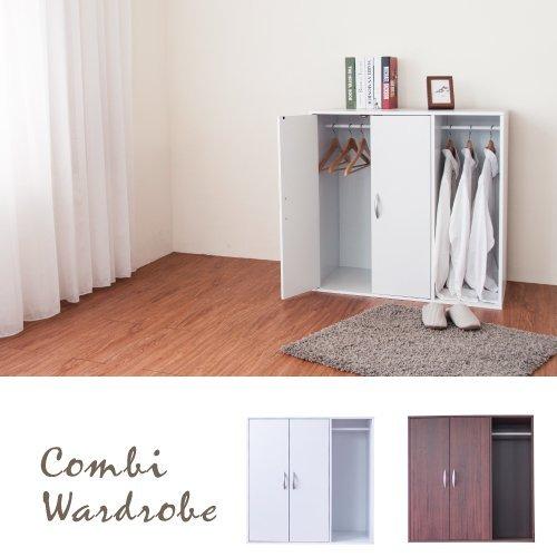 生活大發現-H-二門一格組合式衣櫃(時尚白)衣櫃/衣櫥/收納/台灣製造