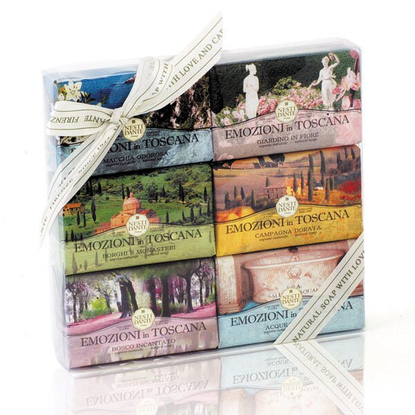 Nesti Dante 義大利手工皂 托斯卡尼風情畫禮盒150g6 贈小香皂【A002165】《BEAULY倍莉》