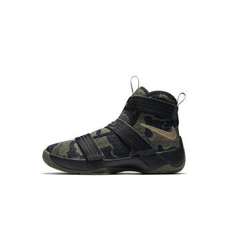Nike Lebron Soldier 10 GS 童鞋 籃球鞋 中童 迷彩 士兵 魔鬼氈 【運動世界】 845122-022