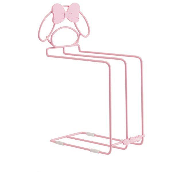 【真愛日本】16073000002毛巾架-MM大臉粉結   三麗鷗家族 Melody 美樂蒂  居家 廚房用具 衛浴設備 正品 限量
