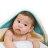 ollobaby瓦吉司 - Nizio - 多功能成長型浴巾 (藍綠點點) 0