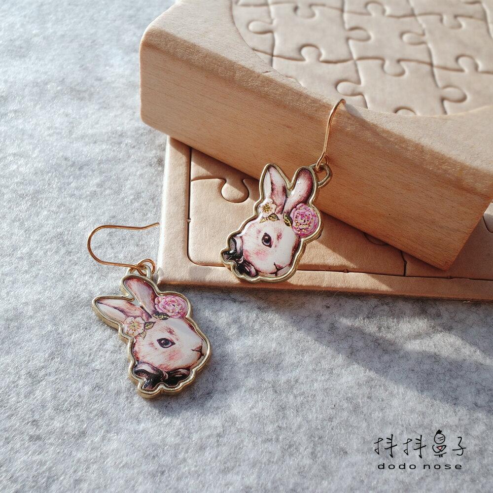大小姐兔公主勾式耳環 2