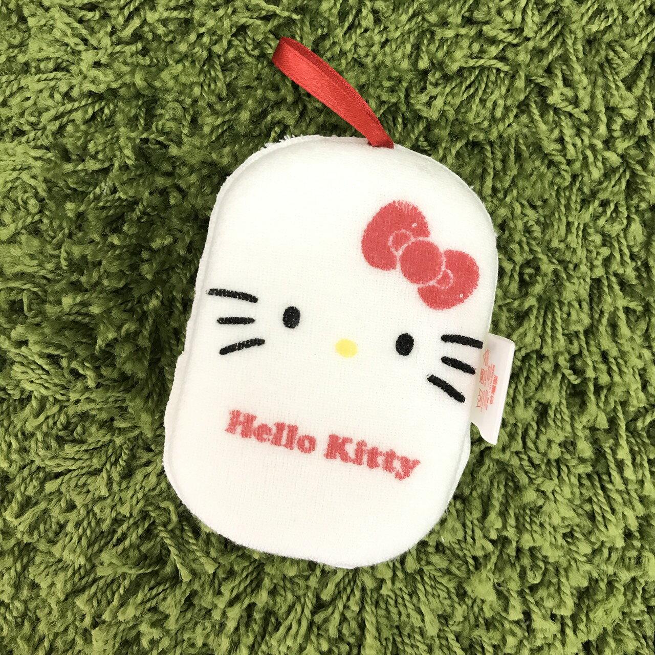 【真愛日本】17110600027 洗澡海綿-KT大臉new 三麗鷗 Hello Kitty 凱蒂貓 日用品 清潔用品 居家生活