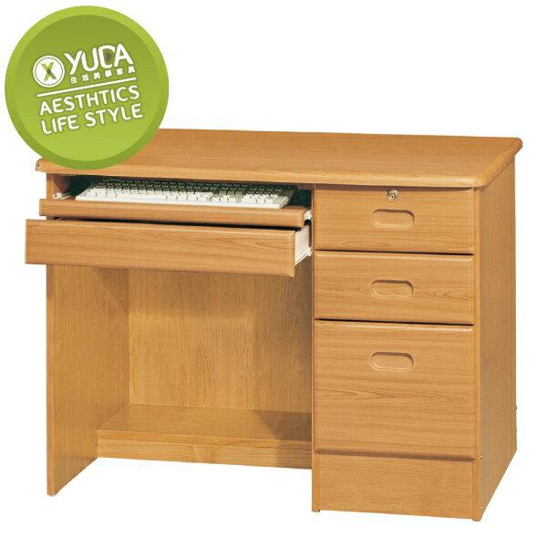 書桌【YUDA】赤陽色 3.5尺 書桌/寫字桌/工作桌/電腦桌 K9F 239-10