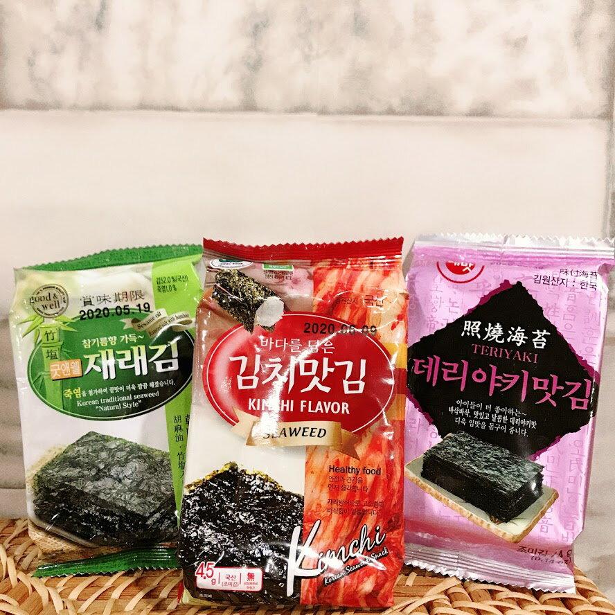韓國海苔 【台灣夯 伴手禮物產館】韓國 竹鹽 照燒 泡菜 明太子