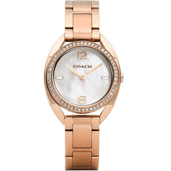 COACH甜美珍珠貝晶鑚錶-玫瑰金30mm-CO14502028