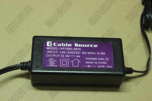 cable source 12v4a適配器 監控音箱LED液晶顯示器通用