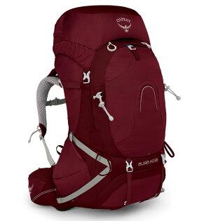 【Osprey美國】AURAAG65輕量登山背包自助旅行健行背包網架背包女款輻射紅〈容量62L〉/AuraAG65