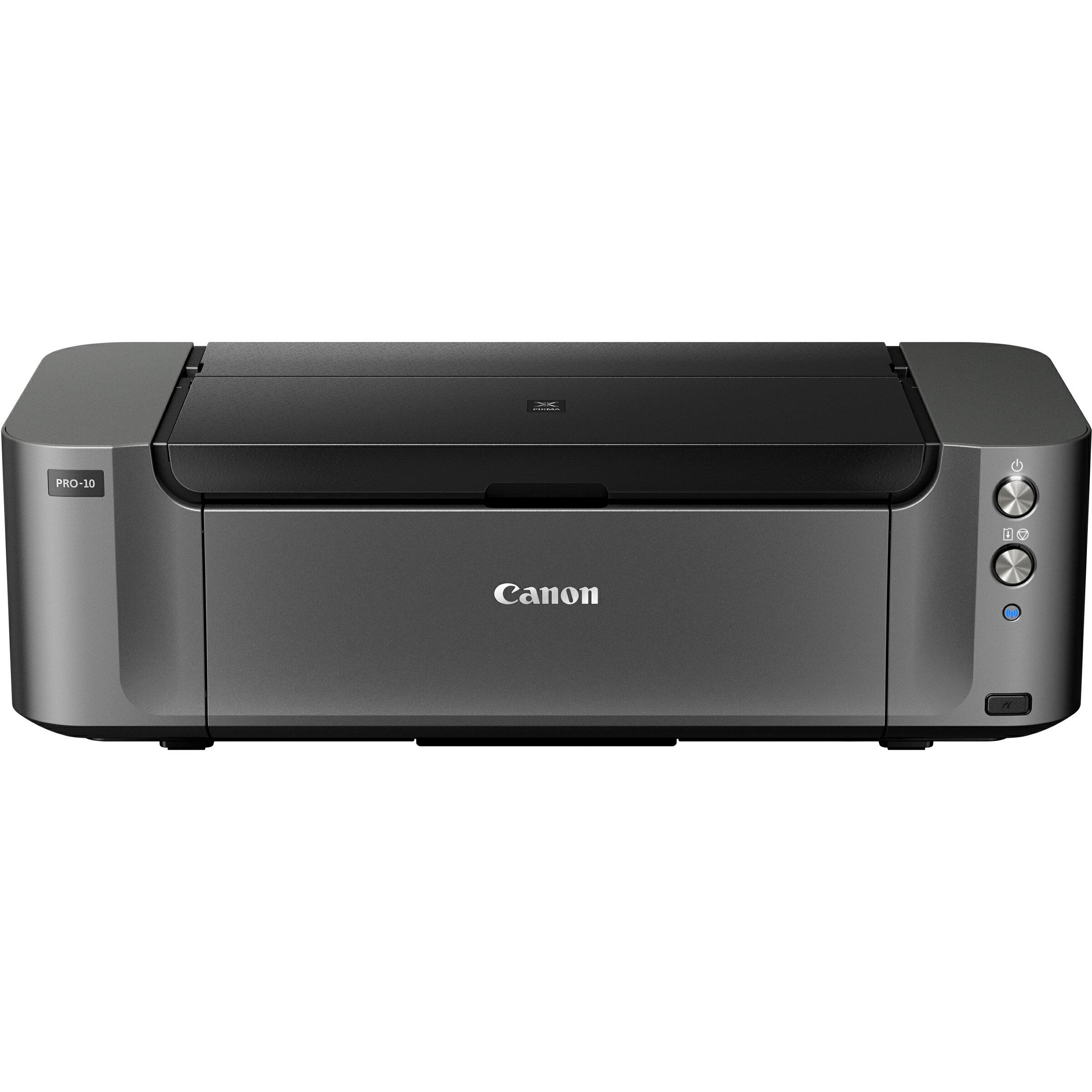 Canon PIXMA Pro PRO-10 Inkjet Printer - Color - 4800 x 2400 dpi Print - Photo/Disc Print - Desktop - 3.6 Second Photo - 150 sheets Standard Input Capacity - Ethernet - Wireless LAN - USB - PictBridge 0