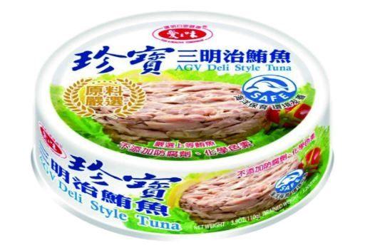愛之味珍寶三明治鮪魚110g*6罐【合迷雅好物商城】